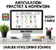 Big Articulation Homework Bundle! Early and Later Sounds! 185 Homework Pages!