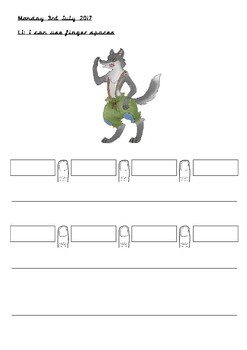 Big Bad Wolf Character Description - Finger Spaces and Sentence Demarcation