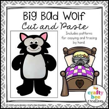 Big Bad Wolf Cut and Paste