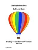 The Big Balloon Race by Eleanor Coerr Reading Comprehensio