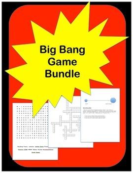 Big Bang Theory Game Bundle: Crossword, Word Search, Math Challenge.