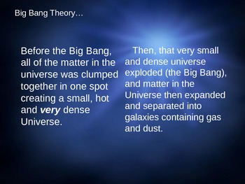 Big Bang Theory Notes