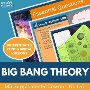 Big Bang Theory - Supplemental Lesson - No Lab