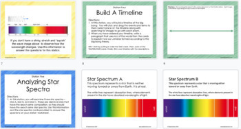 Task Cards: Big Bang Theory - NGSS Aligned, Student Centered, 50+ Pages