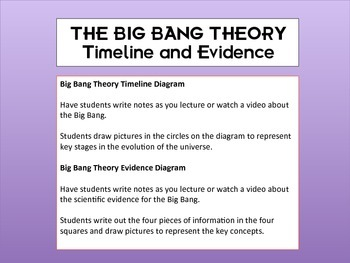 Big Bang Theory Timeline Worksheets Teaching Resources Tpt