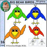 Big Beak Birds Clip Art Set