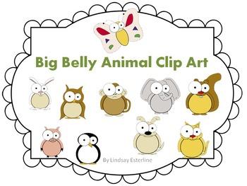Big Belly Animal Clip Art