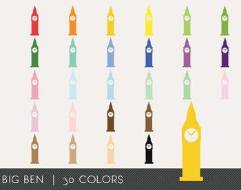 Big Ben Digital Clipart, Big Ben Graphics, Big Ben PNG