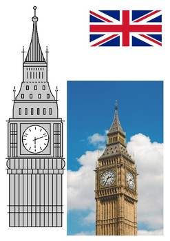 Big Ben Word Search and Color