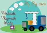Big Big cars - playdoh mats