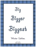 Big Bigger Biggest Winter Size Sequencing Packet
