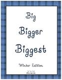 Big Bigger Biggest Winter Size Sequencing Packet