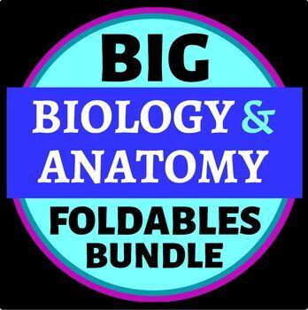 Big Biology Foldables MEGA Bundle for Interactive Notebooks or Binders