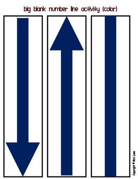Big Blank Number Line Activity