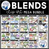 Big Blends Bundle Phonics Clip Art - Whimsy Workshop Teaching