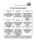 Big, Blue Ocean** Tic-Tac-Toe Menu Board