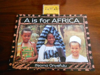 Big Book A IS FOR AFRICA w/ Unopened Audio Cassette Silver