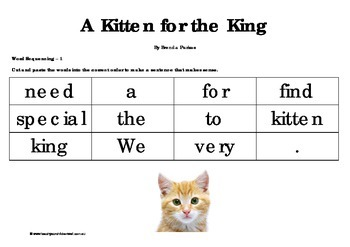 Big Book Activities - A Kitten for the King - 13 pages