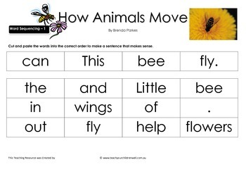 Big Book Activities - How Animals Move - 18 pages