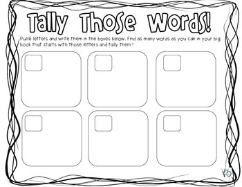 Big Book Literacy Station Activities