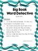 FREEBIE! Big Book Monster Word Detective