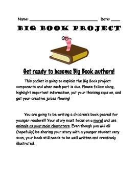 Big Book Project Packet