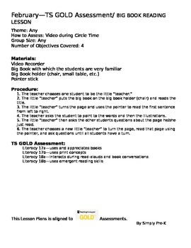 Big book activities lesson plans