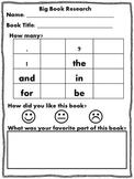 Big Book Research Form