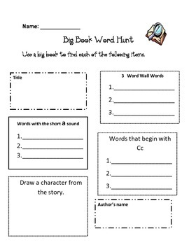 Big Book Word Hunt