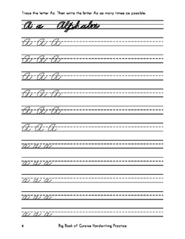 Big Book of Cursive Handwriting Practice (Over 18,000 Cursive Tracing Units)