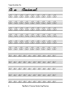Big Book of Cursive Handwriting Practice (Over 18,000 Cursive Tracing Units)
