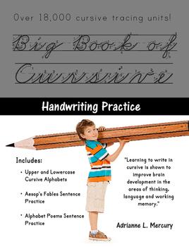 Big Book of Cursive Handwriting Practice (Over 18,000 Curs