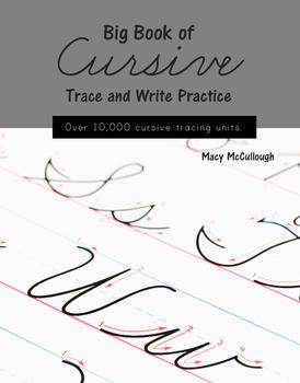 Big Book of Cursive (Over 10,500 Cursive Tracing Units)