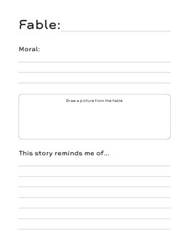 Big Book of Fables: Reflection Sheets for Active Readers