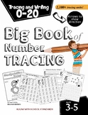Big Book of Number Tracing: Numbers 0-20 (Over 2,100 traci