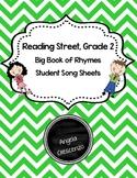 Big Book of Rhymes Student Song Sheets, Reading Street, Grade 2