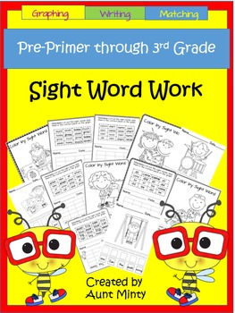 Big Book of Sight Word Work using Dolch Sight Words Pre-Primer to 3rd Grade