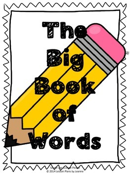 Big Book of Words - Writing Center Resource