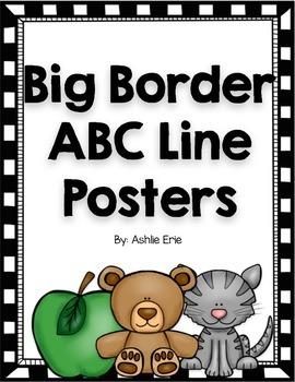 Big Border ABC Line Posters