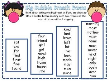 Big Breath Fluency Practice 4