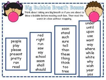 Big Breath Fluency Practice 5
