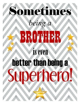 Big Brother Superhero Poster