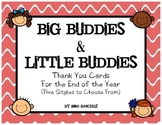 Big Buddies & Little Buddies Thank You Cards for the End of the Year