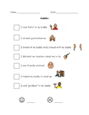 Big Buddy Behaviour Checklist