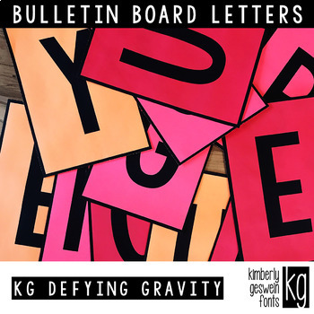 Bulletin Board Letters: KG Defying Gravity ~ Easy Cut