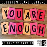 Bulletin Board Letters: KG Defying Gravity ~ Easy Cut