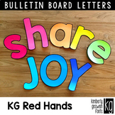 Bulletin Board Letters: KG Red Hands