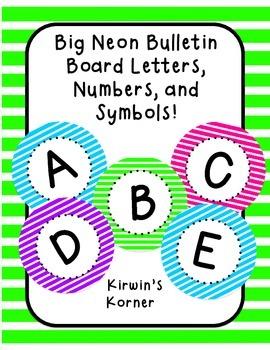 Big Bulletin Board Letters: NEON