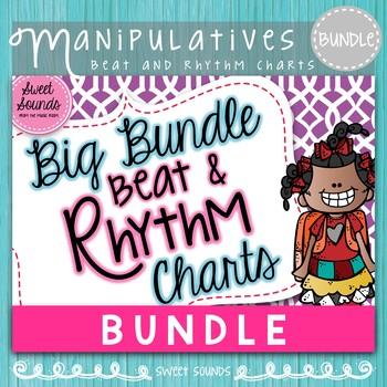 Big Bundle Beat and Rhythm Charts (Kindergarten and 1st grade Music)