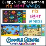 Big Bundle Kindergarten Sight Words 192 Google Slides ™